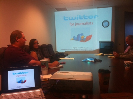 Twitter training at The Macomb Daily, Daily Tribune and Advisor Source, part of 21st Century Media.