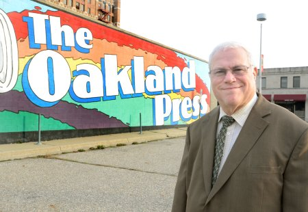 Glenn Gilbert, executive editor of The Oakland Press in Pontiac, Mich., and group editor for 21st Century Media's Michigan Cluster, is retiring Jan. 3, 2014, after 45 years in journalism.  (Photo by Tim Thompson/Oakland Press)